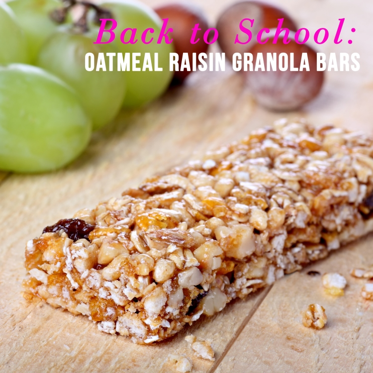 Cereal bar with grapes and hazelnuts